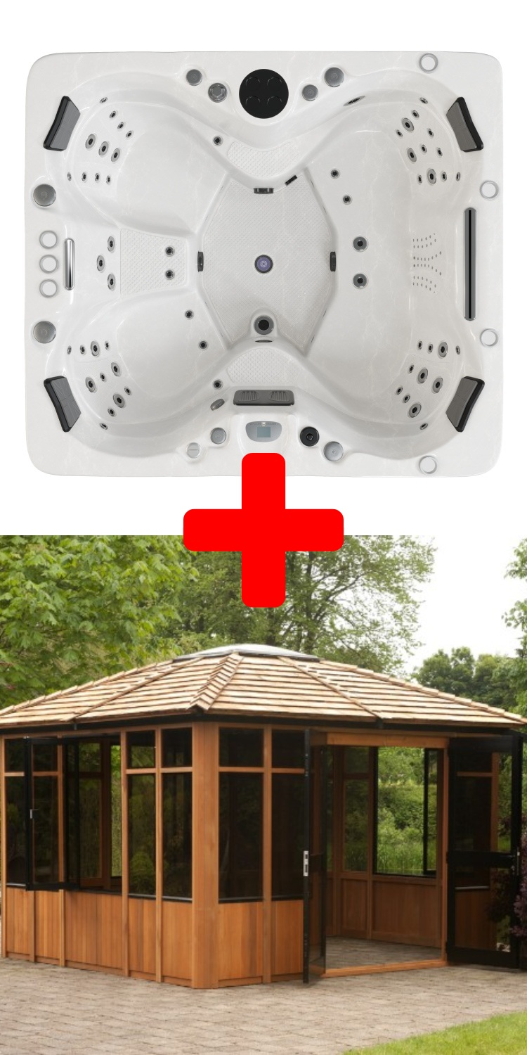 Kensington Hot Tub™ & Tamihi Gazebo Package Deal.