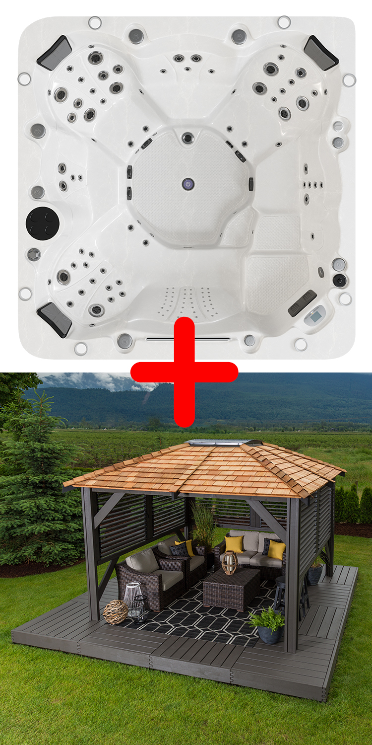 Sterling Hot Tub™ & Mount Alta Gazebo Package Deal.