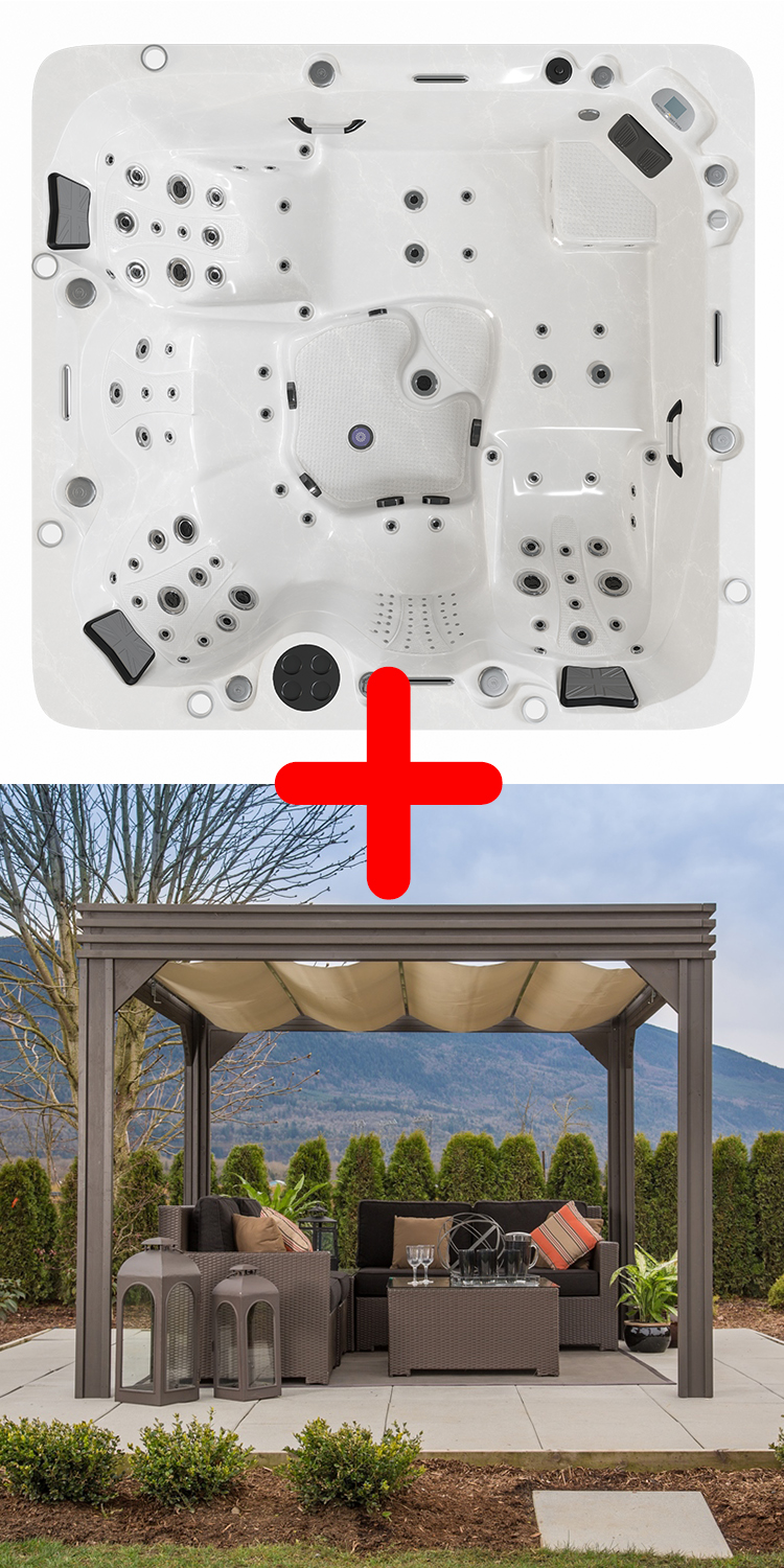 Union Hot Tub™ & Valencia 2 Gazebo Package Deal.