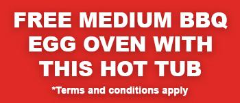 Free Medium Egg Oven with Coast Luxury Hot Tub
